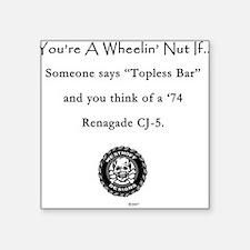 Topless Bar Square Sticker