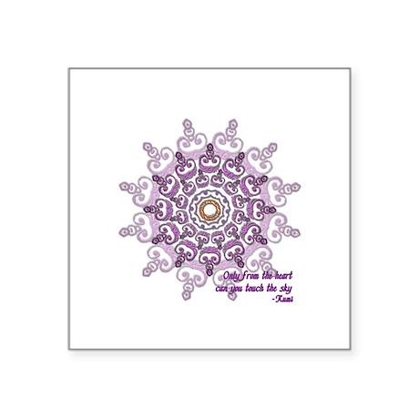 Rumi quote - Square Sticker