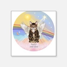 Tabby Cat Buffy Square Sticker