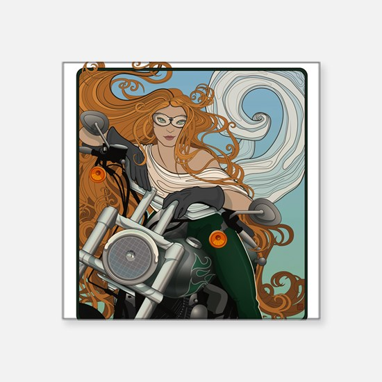 Biker Chic 1 Square Sticker