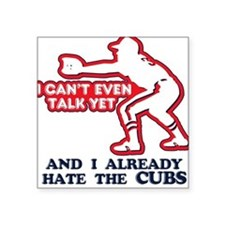 Baby Humor Anti Cubs Square Sticker