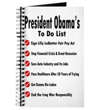 President Obama To Do List Journal