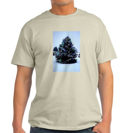 Outdoor Christmas tree Decorated Light T-Shirt