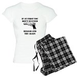 Reload Gun Black.png Women's Light Pajamas