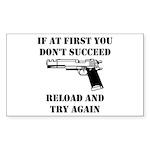 Reload Gun Black.png Sticker (Rectangle 50 pk)