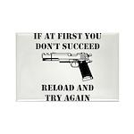 Reload Gun Black.png Rectangle Magnet (100 pack)