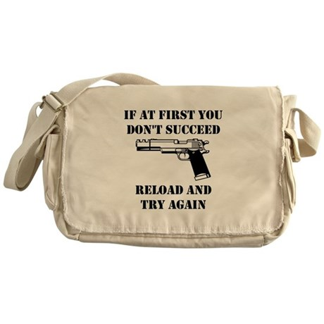 Reload Gun Black.png Messenger Bag