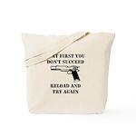 Reload Gun Black.png Tote Bag