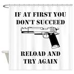 Reload Gun Black.png Shower Curtain