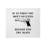 Reload Gun Black.png Throw Blanket