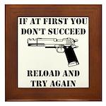 Reload Gun Black.png Framed Tile
