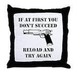 Reload Gun Black.png Throw Pillow