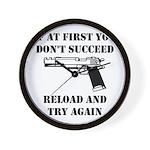 Reload Gun Black.png Wall Clock