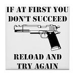 Reload Gun Black.png Tile Coaster