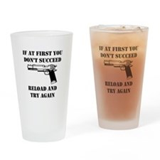 Reload Gun Black.png Drinking Glass