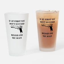 Reload Gun Black.png Drinking Glass