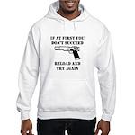 Reload Gun Black.png Hooded Sweatshirt