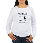Reload Gun Black.png Women's Long Sleeve T-Shirt