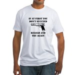 Reload Gun Black.png Fitted T-Shirt
