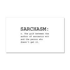 Sarchasm Definition Black.png Car Magnet 20 x 12