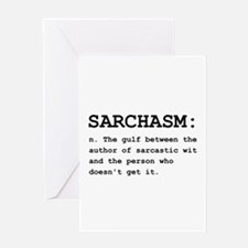 Sarchasm Definition Black.png Greeting Card