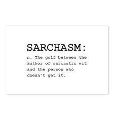 Sarchasm Definition Black.png Postcards (Package o
