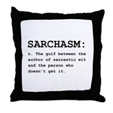 Sarchasm Definition Black.png Throw Pillow