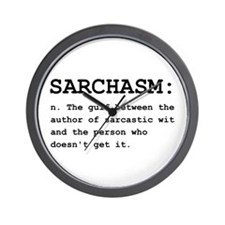 Sarchasm Definition Black.png Wall Clock