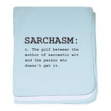 Sarchasm Definition Black.png baby blanket