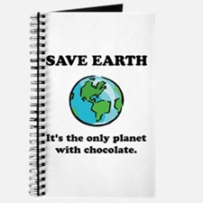 Save Earth Chocolate Black.png Journal