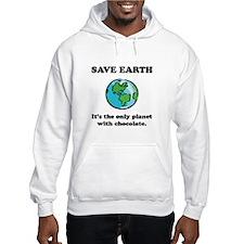 Save Earth Chocolate Black.png Hoodie