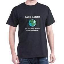 Save Earth Chocolate Black.png T-Shirt