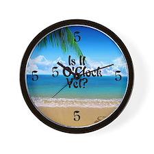 5 OClock Yet? Beach Wall Clock