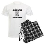 Speed Limit Black.png Men's Light Pajamas