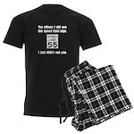 Speed Limit Black.png Men's Dark Pajamas
