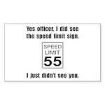 Speed Limit Black.png Sticker (Rectangle 10 pk)