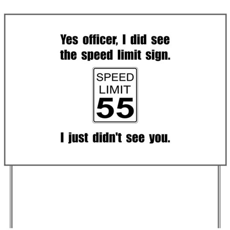 Speed Limit Black.png Yard Sign