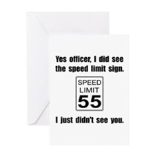 Speed Limit Black.png Greeting Card