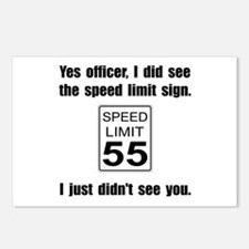 Speed Limit Black.png Postcards (Package of 8)