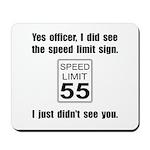 Speed Limit Black.png Mousepad