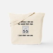 Speed Limit Black.png Tote Bag