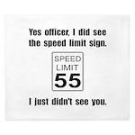 Speed Limit Black.png King Duvet