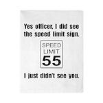 Speed Limit Black.png Twin Duvet