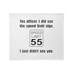Speed Limit Black.png Throw Blanket