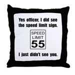 Speed Limit Black.png Throw Pillow