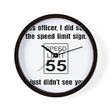 Speed Limit Black.png Wall Clock