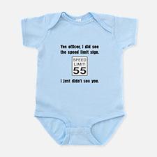 Speed Limit Black.png Infant Bodysuit
