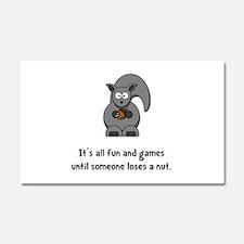 Squirrel Nut Black.png Car Magnet 20 x 12
