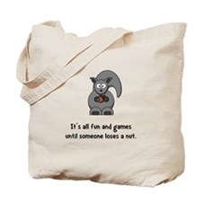 Squirrel Nut Black.png Tote Bag