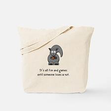 Squirrel Nut Black.png Tote Bag